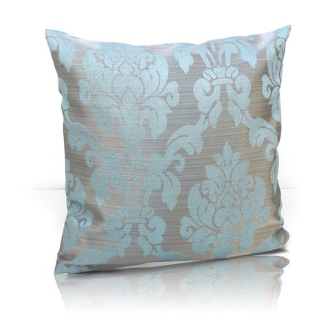 Подушка декоративная Афина жаккард голубой