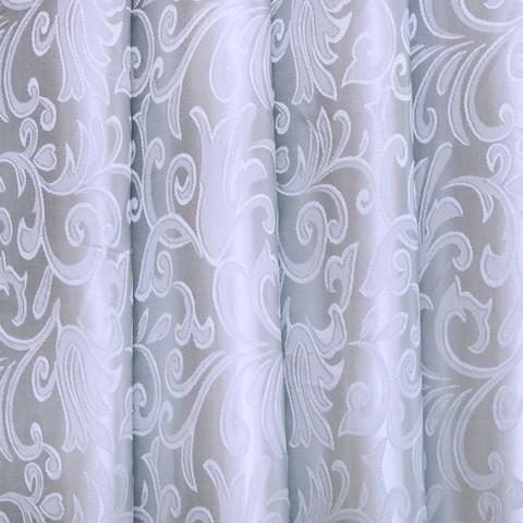 Портьерная ткань 150 см 16 цвет серый вензель
