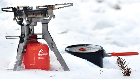 Картинка горелка туристическая Fire-Maple Family FMS-108 пьезо  - 2