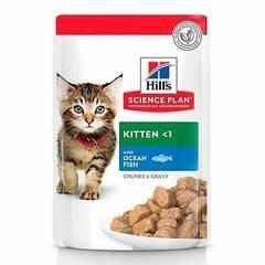 Пауч для котят Hill`s Science Plan Kitten, с океанической рыбой