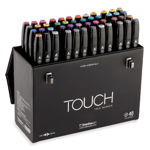 Touch Twin набор маркеров для скетчинга 48 шт в чемодане - двусторонние спиртовые пуля/долото