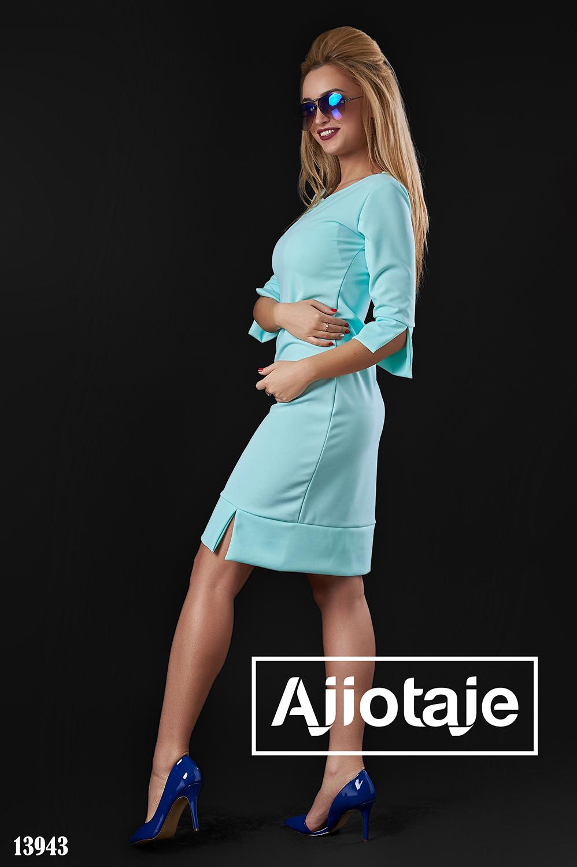 Мятное платье в стиле минимализм