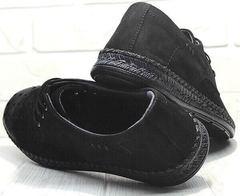 Модные летние туфли мокасины мужские кожа business casual стиль Luciano Bellini 91754-S-315 All Black.