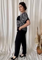 Офелія. Стильний весняний жіночий костюм. Чорний