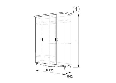 Династия Шкаф 4-х дверный №1
