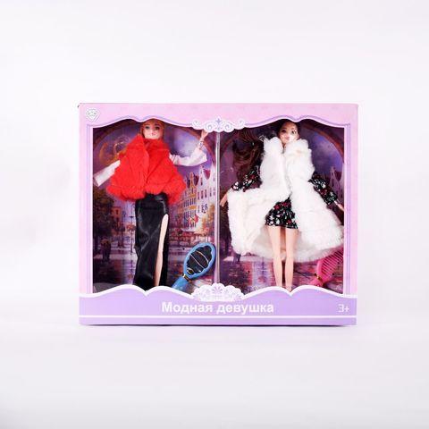 Кукла в шубке 4 шт/уп