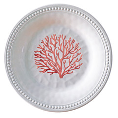 Melamine Dessert Plate Harmony collection, Coral colour 6 UN