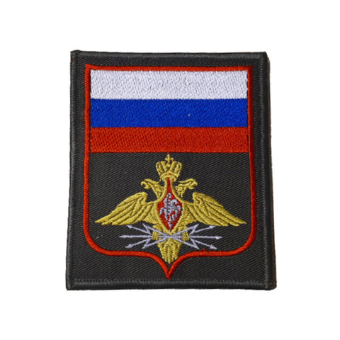 Шеврон нарукавный Войска связи (олива, красный кант)