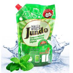 Концентрированный гель Jundo Green tea with mint с гиалуроновой кислотой для мытья посуды и детских принадлежностей 800 мл