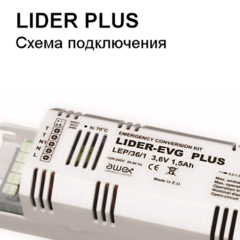 Схема подключения conversion kit (конверсионного модуля) LIDER PLUS