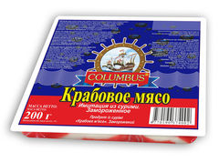 """Крабовое мясо """"Columbus"""" 200г"""