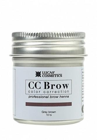 Хна для бровей CC Brow (grey brown) в баночке (серо-коричневый), 10 гр