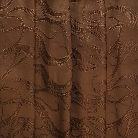 Портьерная ткань 150 см Дебют цвет коричневый