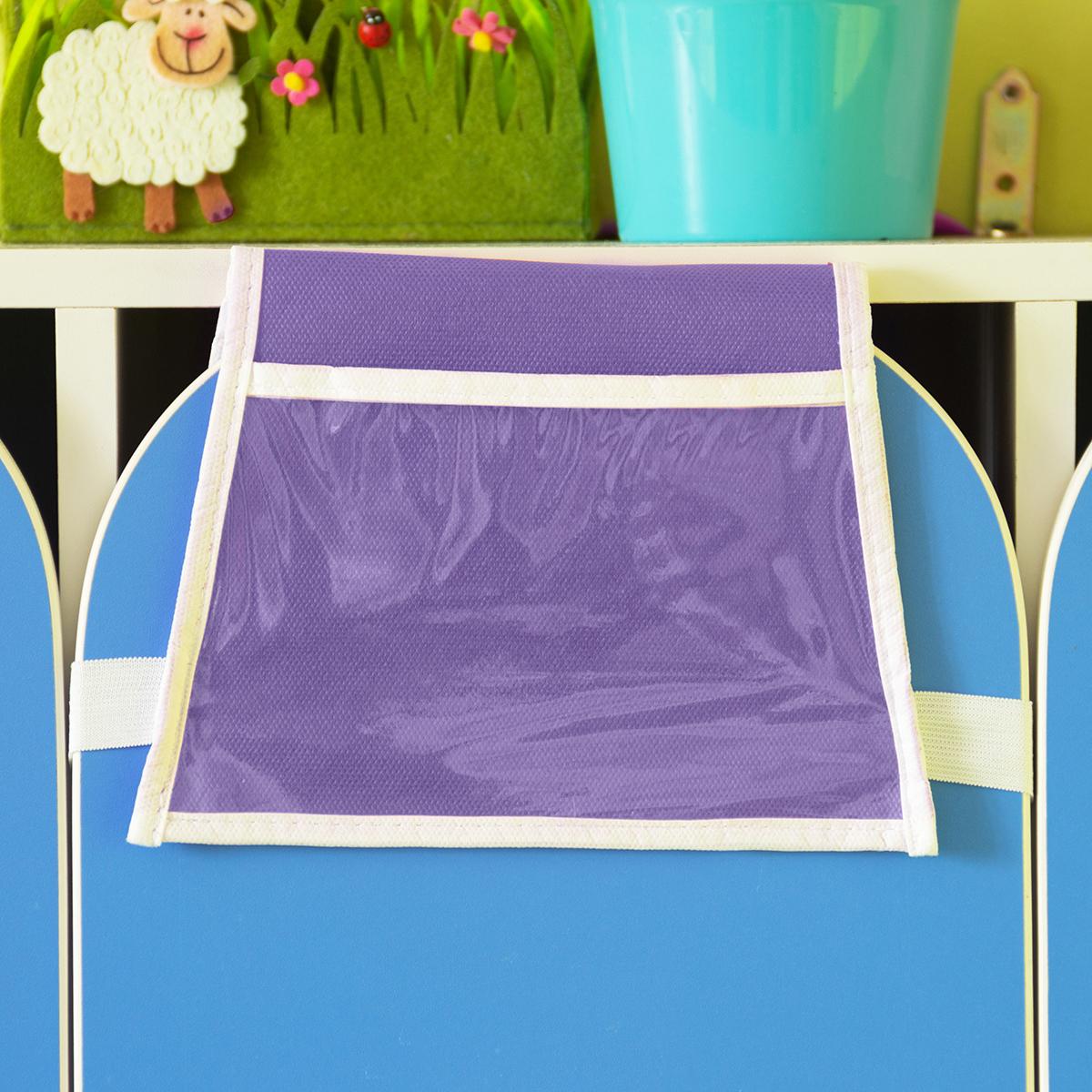 Кармашки в садик для детского шкафчика 85х20 см, Облачко