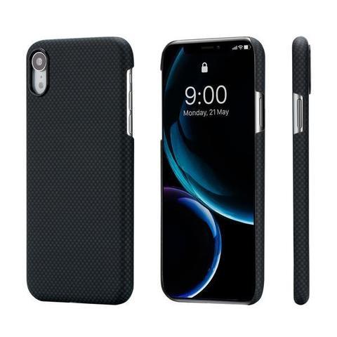 Чехол Pitaka MagCase для iPhone XR Plain (черно-серый клетка)