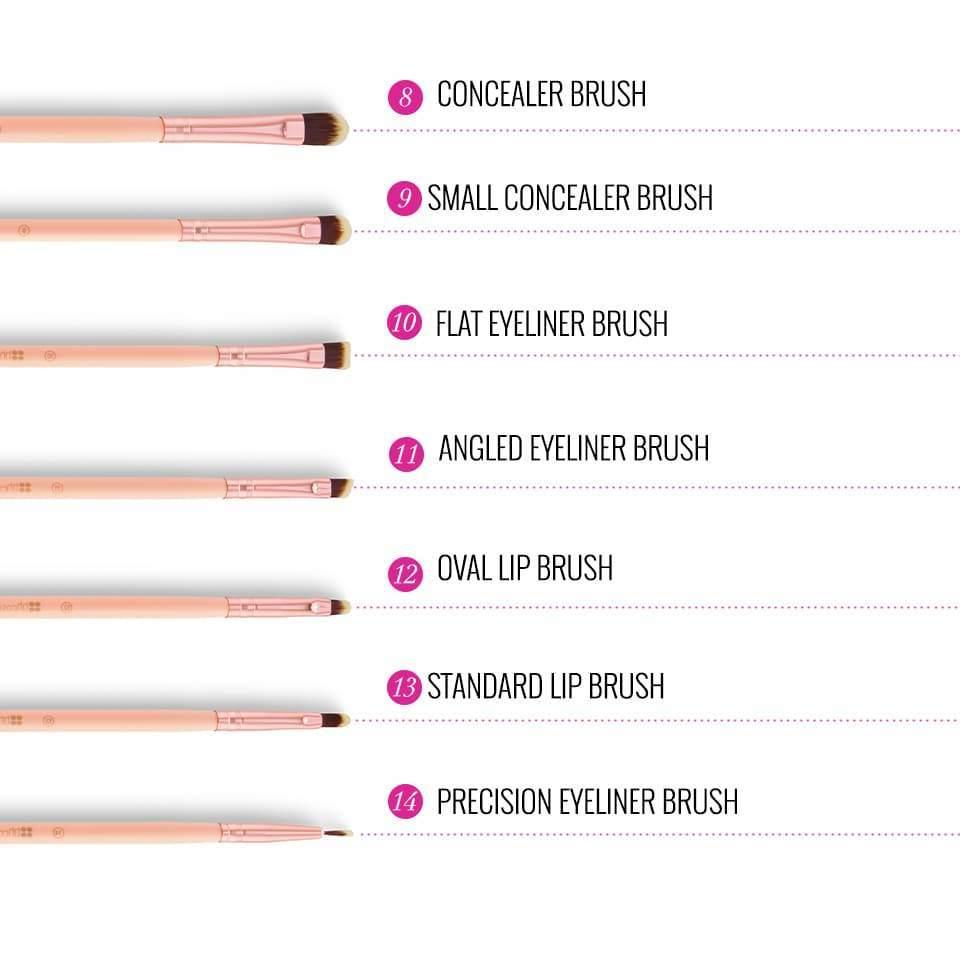 BH Cosmetics Chic 14 piece brush set
