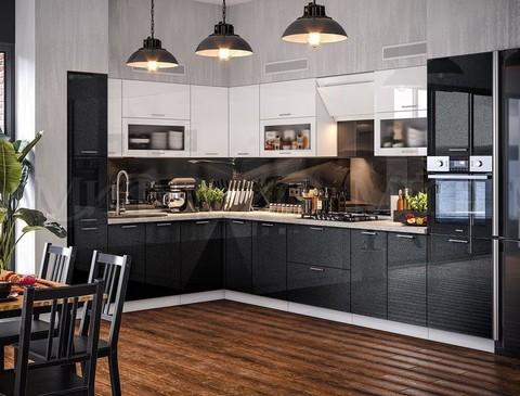 Кухня Техно Черно-Белая 2,2-3