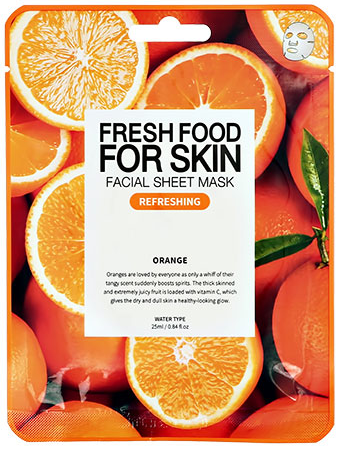 Fresh Food For Skin освежающая маска для лица с экстрактом апельсина