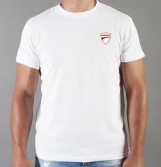 Футболка с принтом Ducati (Дукати) белая 0020