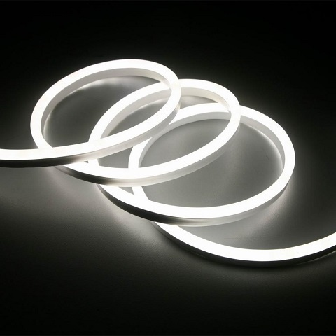 Гибкий неон Белый, SMD2835, 8х16 мм, 12 Вольт, Силикон