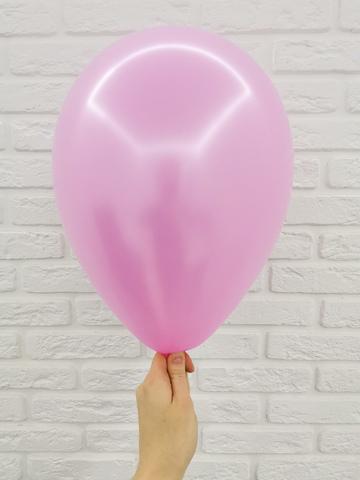 №13 Розовый Гелиевый шар металл 30см с обработкой