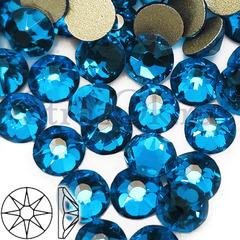 Купить стразы оптом Xirius 8+8 граней Capri Blue