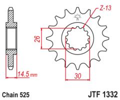 Звезда передняя JTF 1332.15 Honda CB 750