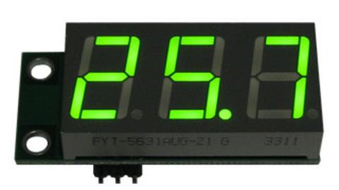 EK-SVH0001UG-100, вольтметр 0..99,9 В, ультра яркий зеленый индикатор