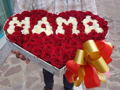 Маме-сердце из роз
