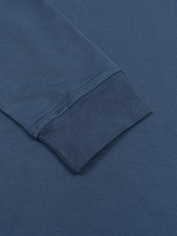 Джемпер с круглым воротом цвета синего денима