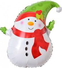 К Снеговик в зеленом колпачке, 29''/74 см, 1 шт.
