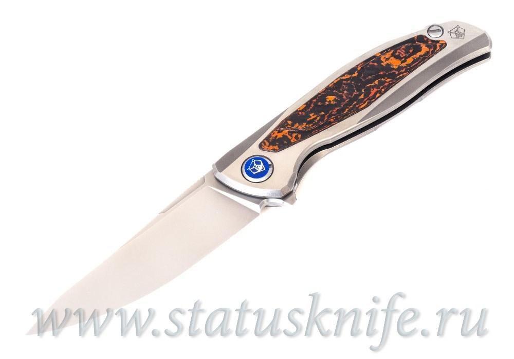 Нож Широгоров Флиппер F95NL 3M M390 CF MARS VALLEY MRBS - фотография
