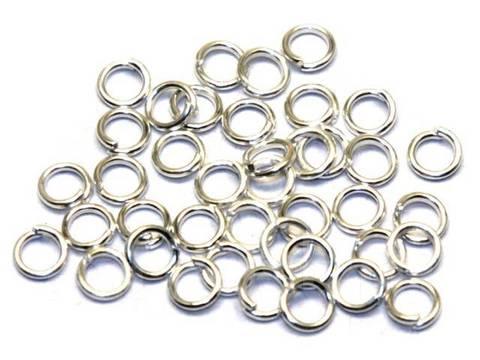 Соединительные колечки разъемные 7 мм, 10 шт. Цвет серебро.