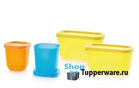 кубикс 110мл оранжевый и голубой и кубикс 250мл в желтый