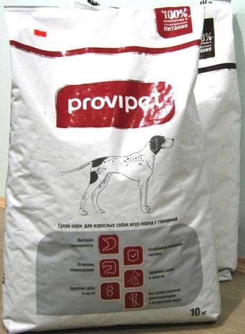 Комбикорм для взрослых собак всех пород с говядиной (10кг) PROVIPET Пурина