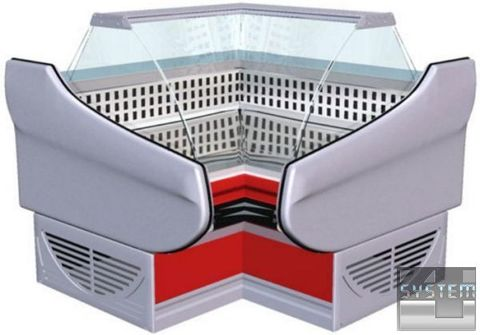 Витрина холодильная  ТИТАНИУМ  ВС 5 УВ (угол внутренний)   АРИАДА