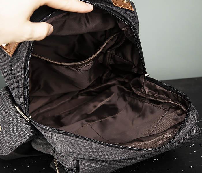 BAG394-1 Черный компактный рюкзак с одной лямкой через плечо фото 13