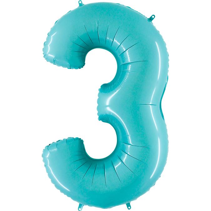 Голубая цифра 3