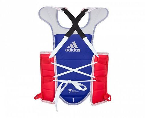 Защита корпуса двухсторонняя Adult Body Protector Reversible WT сине-красная