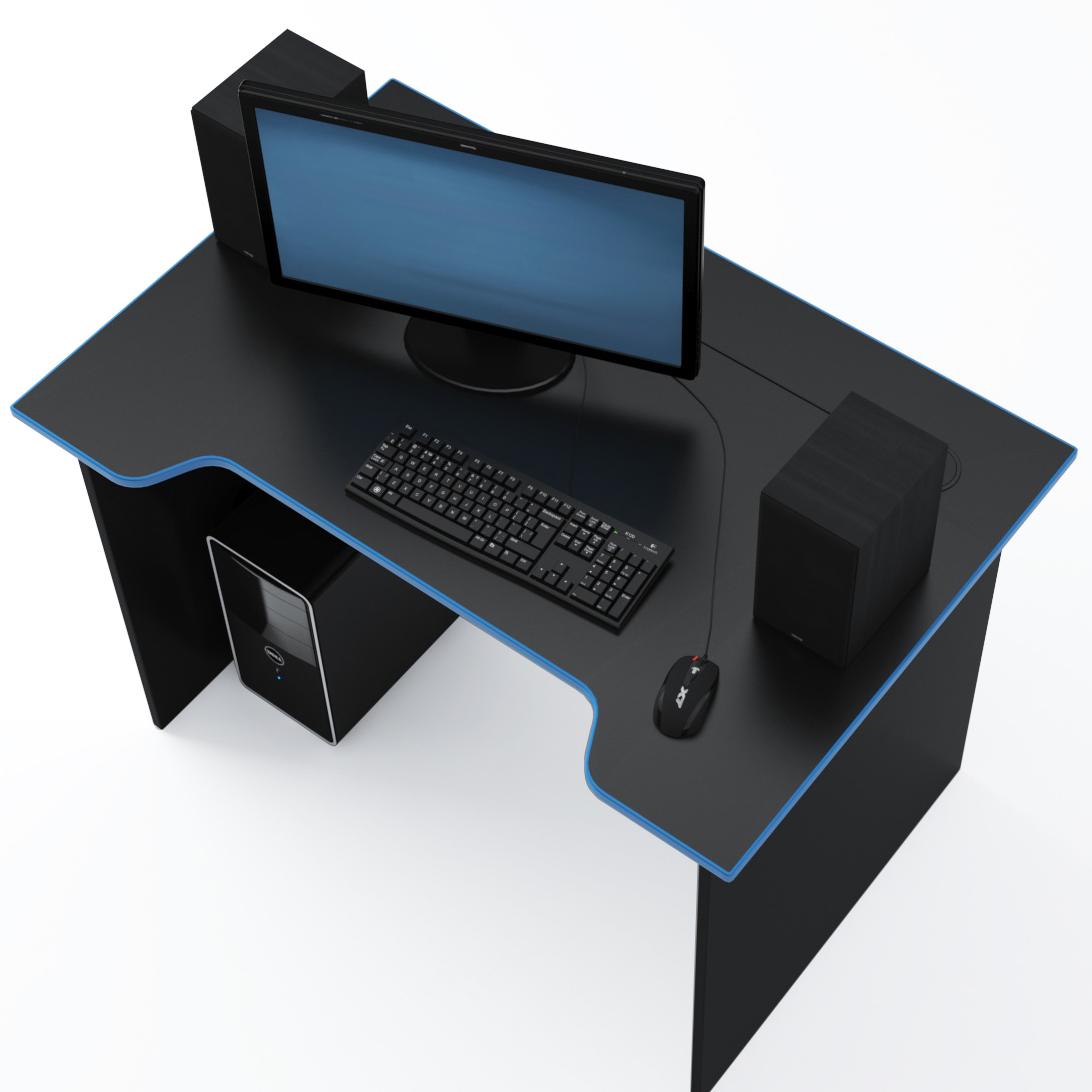 Стол Компьютерный Jedi 1100 Черный/Голубой