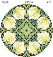 Эскиз для росписи, Круг диаметр-47,5см, SMAR-st-59
