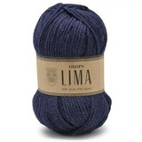 Пряжа Drops Lima 9016 темно-синий