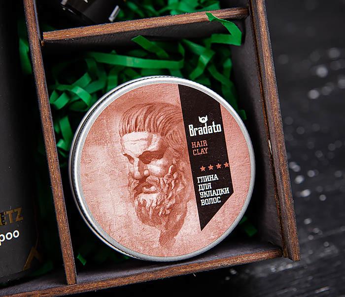 Набор и масляного шампуня, глины для волос и масла для бороды фото 03
