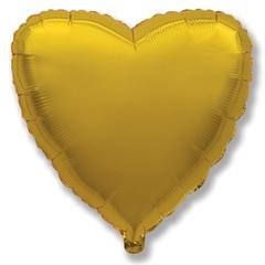 Шар сердце золотой