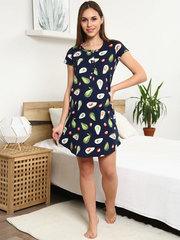 Мамаландия. Сорочка для беременных и кормящих с пуговицами короткий рукав, авокадо/темно-синий