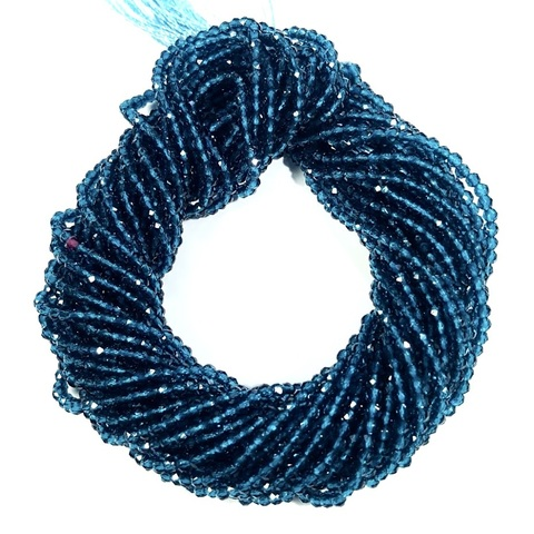 Бусины шпинель (имитация) граненая 2 мм цвет морской волны цена за 185 бусин (~37 см)