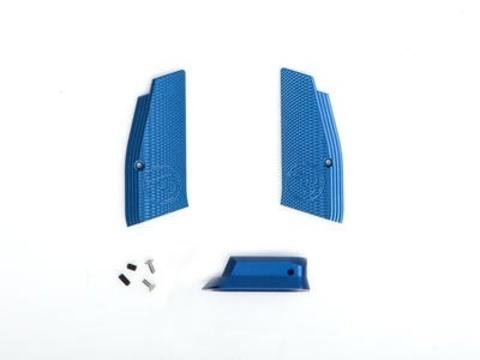 Накладки на рукоятку и пятка магазина для CZ SP-01 SHADOW синие (артикул 18546)