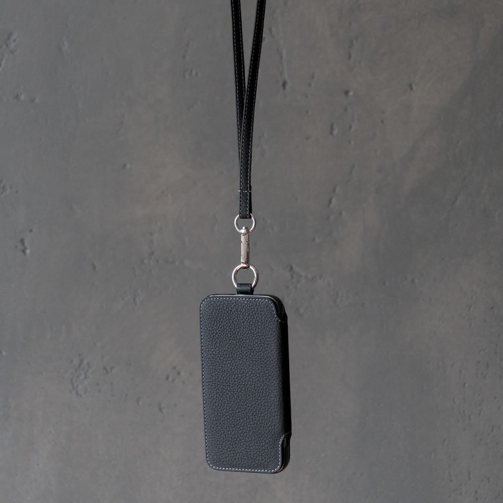 Чехол Marcel для iPhone 12/12Pro из натуральной кожи теленка, цвета черный мат