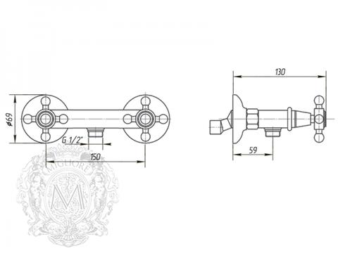 Смеситель для душа Migliore Arcadia BN.ARC-8346 схема