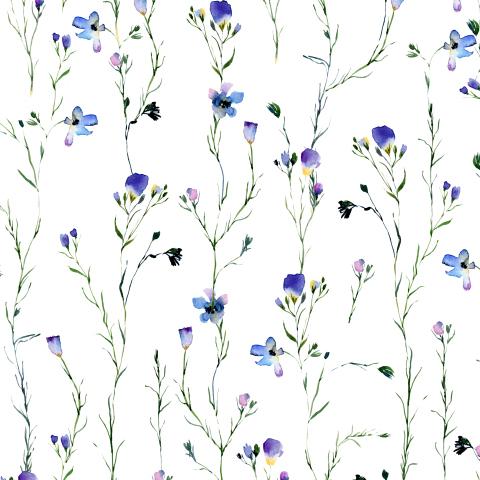 Маленькие сиреневые цветы